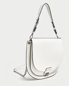 Image 1 of OVAL CROSSBODY BAG WITH FASTENING DETAIL from Zara