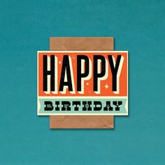 Show some birthday love with this awesome retro birthday card from British design studio Telegramme.