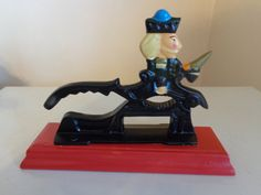 Vintage Cast Iron Nutcracker With Riding by TessesAttic on Etsy, $16.00