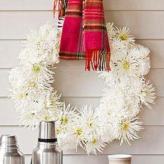 Cozy Fall Mum Wreath