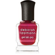 Deborah Lippmann + (RED) Gel Lab Pro Nail Polish - Cranberry Kiss ($23) ❤ liked on Polyvore featuring beauty products, nail care, nail polish, nails, beauty, red, gel nail polish, deborah lippmann, deborah lippmann nail polish and contour brush