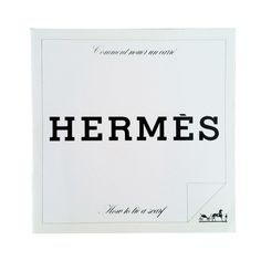 A rare vintage copy of Hermes How To Tie A Scarf. Out of print item instructs the multiple ways to wear an Hermes scarf for men and ladies.