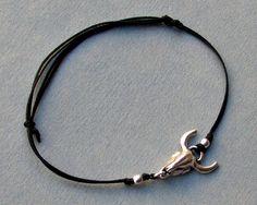 Bull Head Bracelet Men's Bracelet Silver Bull Bracelet by GUSFREE