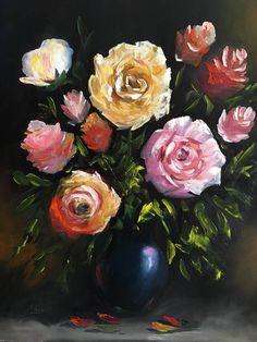 Rózsák. olaj, farost, 50x40