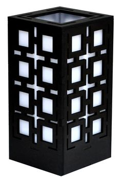 Squares Lamp in Black, White or Brown Squares, Cube, Lamps, Arts And Crafts, Black White, Toys, Brown, Lightbulbs, Black And White