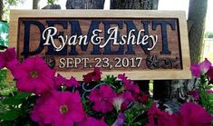 Horseshoe and Star corner option Rustic finish Anniversary Wedding Personalized Carved Wooden Plaque rustic