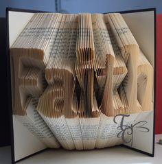 Folded Book Art  Faith   Book Sculpture  by TodaysCreations1