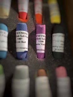 Soft pastels from Pip Seymour: intense and rich in pigment.