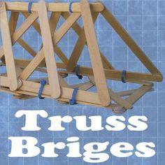 Build a popsicle stick truss bridge.