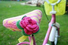 crochet bike seat