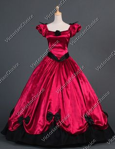 Southern Belle Victorian Princess Formal Dress Gown Ball Gown Reenactment Clothing