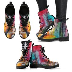 Full suede double sided print with rounded toe construction. Lace-up closure for a snug fit. Soft textile lining with sturdy construction for maximum comfort. Dr. Martens, Doc Martens Boots, Sock Shoes, Cute Shoes, Shoe Boots, Women's Boots, Art Boots, Awesome Shoes, Fashion Boots