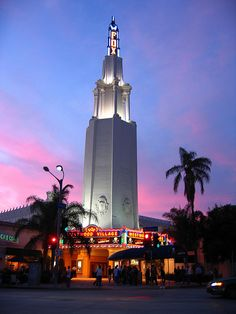 Westwood Village - With it's distinctive tower, the Westwood Village Fox is a beacon to Westwood Village which borders UCLA.
