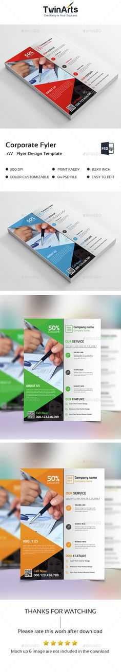 Corporate Flyer • Available here → http://graphicriver.net/item/corporate-flyer-/15406609?s_rank=259&ref=pxcr