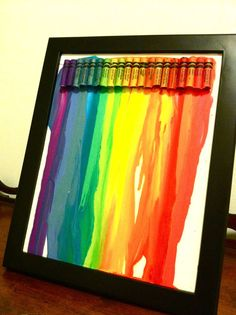 Melted Crayon Wall Art - the original site.soo many..they look so cool though