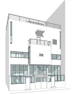 rcruzniemiec: Le Corbusier Redrawn The Houses