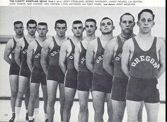 1958-59 Oregon wrestling team. From the 1959 Oregana (University of Oregon yearbook). www.CampusAttic.com