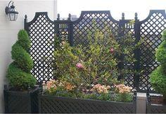 Outdoor Wood Privacy Trellis  fencing