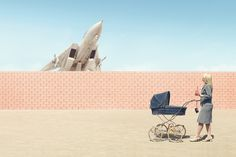 """From series """"On Pleasure Grounds"""" depicting scenes from a fictional amusement park where military weapons and wild animals are the main attractions. Artist + Photographer: Clemens Ascher, CGI + Post Production: Recom Farmhouse."""