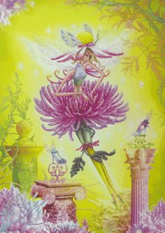 Pink Chrysanthemum Fairy - The Paper D'Art Shop