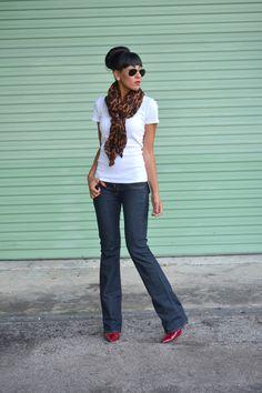 Leopard scarf   #stylepledge