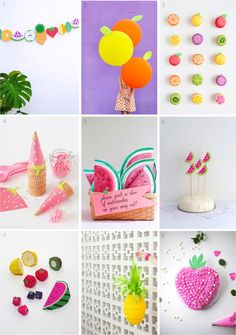 """""""9 of the best fruit themed summer party ideas"""""""
