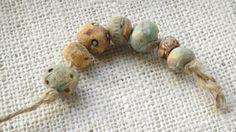 Handmade Beads Nature Inspired Ceramic Bead by SeeingIsBelieving