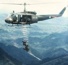 The most awesome image on the Internet...MAC-V-SOG Recon Team seconds after being extracted under fire in Laos during the Vietnam War