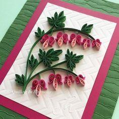 Quilled Bleeding Heart Flowers