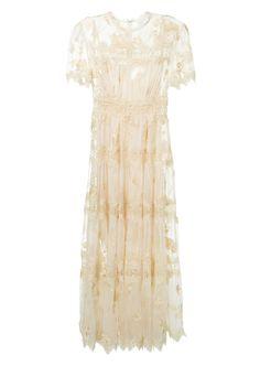 053f725ec31de ZIMMERMANN Zimmermann Ivory Flowers Embroidered Muslin Silk Long Dress.   zimmermann  cloth