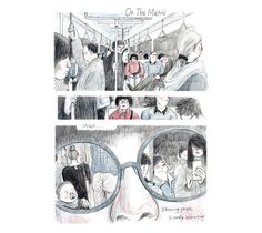 Ever observed people On The Metro? #Artist Peihsiu Chen does, and we love the results!