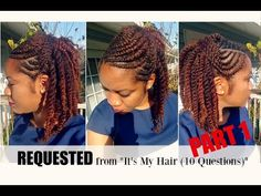 Naturally Michy    Flat Twist Hairstyles on Natural Hair   REQUESTED Part 1 - YouTube