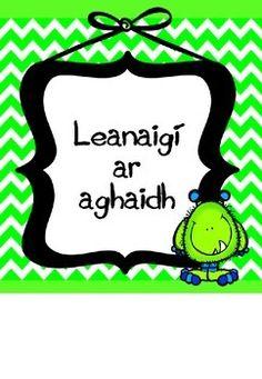 Classroom Management Clip Chart (IN IRISH, AS GAEILGE) - M Irish Language, Primary School, Kid Names, Classroom Management, Teaching Resources, Chart, Writing, Words, School Stuff
