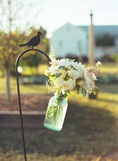 Great outdoor wedding decoration.