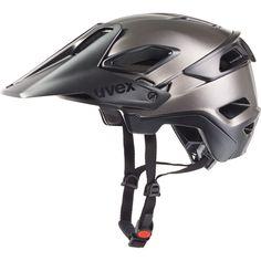 cycling helmet, uvex jakkyl, black-dark silver mat