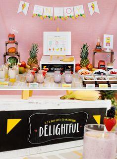 Summer Fun! A Fresh & Fruity Milkshakes Bar
