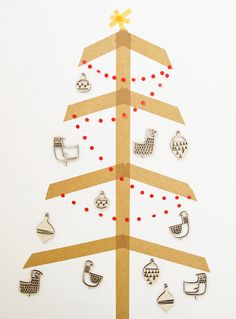 Christmas tree, Skinny Laminx style! Perfect for hanging children's handcrafts