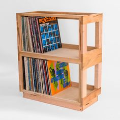 Dvd Wall Storage Ikea Fresh Bored Of Ikea 12 Alternative Ways to Store Your Records Dvd Wall Storage, Vinyl Record Storage Box, Vinyl Record Shelf, Comic Book Storage, Crate Storage, Vinyl Records, Storage Ideas, Record Cabinet, Licht Box