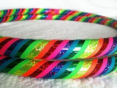 Love and Light Dance & Exercise Hula Hoop COLLAPSIBLE or STANDARD neon pink yellow green purple rainbow via Etsy