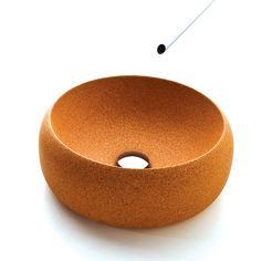 Alzira Peixoto and Carlos Mendonca & SimpleFormDesign's  Cork Wash Basin