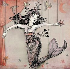 Mermaid Marionette with Curtain of Dawn by theFiligree, Celena & Martin, via Flickr