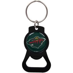 Minnesota Wild Bottle Opener Keychain - Black