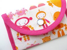 """Business card case made with """"CuteBots""""!"""
