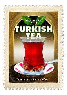 <em>Vintage Travel Poster </em>- Turkish Tea