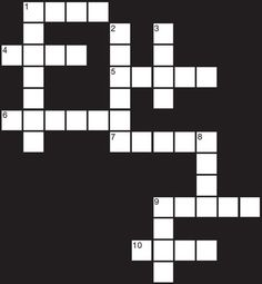 Check out this FREE Crossword puzzle! Can you solve it?