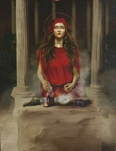 Mary Magdalene And Jesus, Tarot, Spirit Magic, Alchemy Symbols, Spirited Art, Wiccan, Witchcraft, Character Portraits, Visionary Art