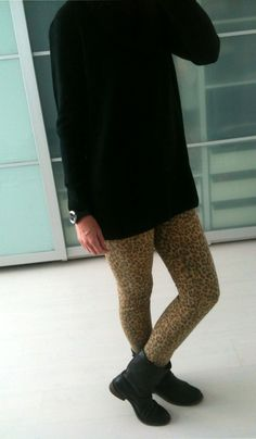 H jumper, H leopard pants, Tommy Hilfiger biker boots Leopard Pants, Biker Boots, Jumper, Tommy Hilfiger, How To Wear, Outfits, Style, Fashion Styles, Swag