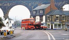 Under the viaduct. Durham city, late 1970's.