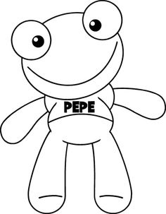 Sapo pepe ~ Portal de Manualidades Frog Pictures, Frog Crafts, Minion Party, Ideas Para Fiestas, Animal Coloring Pages, Baymax, Diy For Kids, Projects To Try, Clip Art