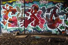 Here are three recent pieces of graffiti from Curve that we thought needed to be stared at for a while.  Quality work.